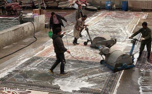 لیست شستشوی فرش در قالیشویی های مشهد,شستن فرش در شستشوی فرش در قالیشویی