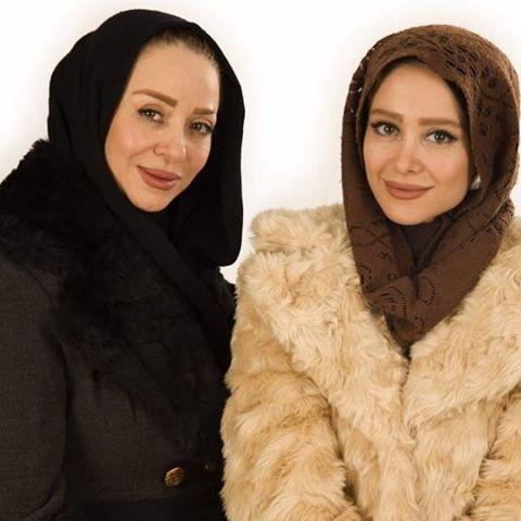 الناز حبیبی و خواهرش افسانه